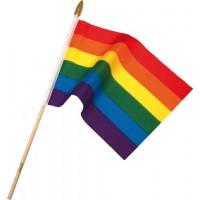 Prideflagg på pinne - liten