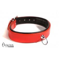 Avalon - DECLARE - Klassisk Collar med O-ring Rødt og Svart