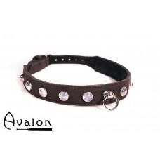 Avalon - DEVOTION - Collar med Blanke Stener og O-ring