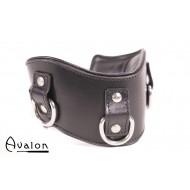 Avalon - CONQUER - Collar med god polstring, Svart