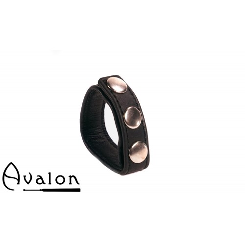 Avalon - HILT - Enkel Penisring i Lær - Svart