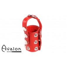 Avalon - STRETCHED - Ballestrekker i lær med D-ring Rød