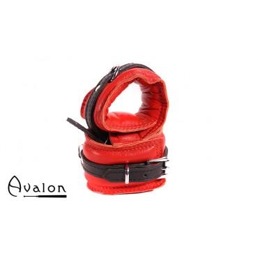 Avalon - ENSNARE - Polstrete Håndcuffs Rød og sort