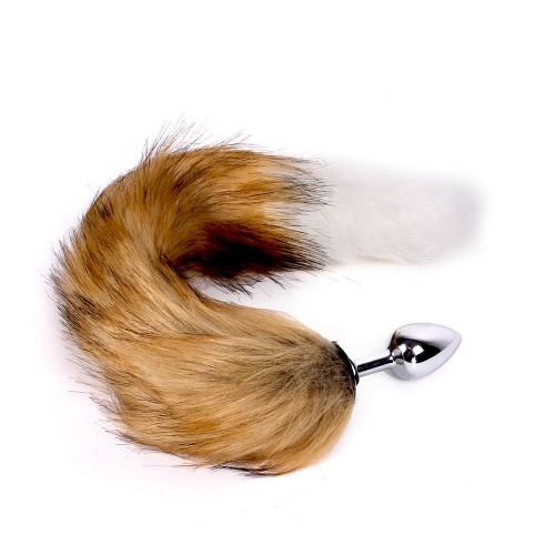 Fox Tail - Buttplug med Brun og Hvit hale