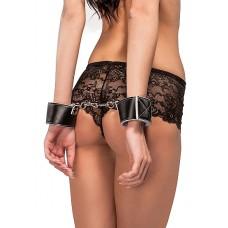 Ouch! Reversible Wrist Cuffs - Hvit/Sort