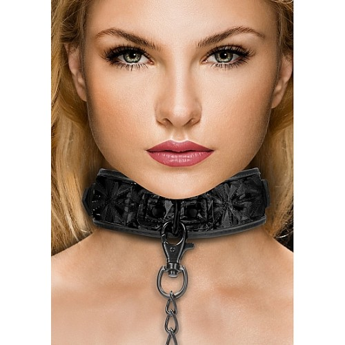 Ouch! - Luksus Collar med Diamantmønster og Halslenke
