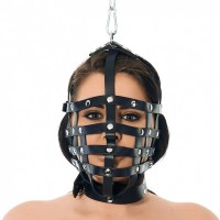Rimba - Bondage lær maske