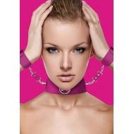 Ouch! - Collar og Cuffs Rosa