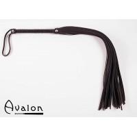 Avalon - Lang sort flogger med nagler på håndtaket