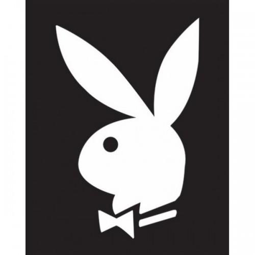 Playboyplakat - Sort/Hvit 40x50