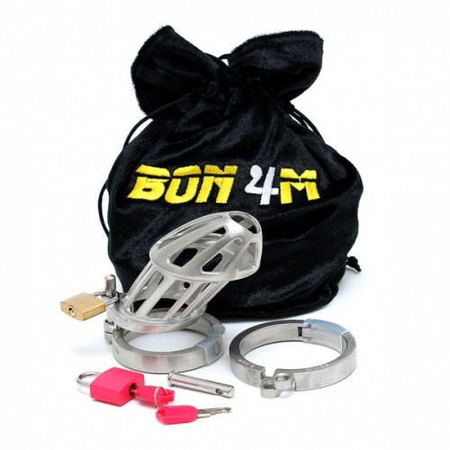 Bon4 - Male Chastity Cage Metall