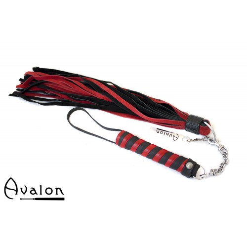 Avalon - CLARENT - Swivel Flogger - Rød og Svart