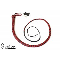 Avalon - BEHEMOTH - Bullwhip heavy handle, Sort og rød  1,5 m