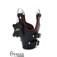Avalon - TEMPEST - Suspensjoncuffs med polstring sort og rød