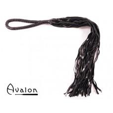 Avalon - MADOC - Sort Flogger med Loop Lærhåndtak