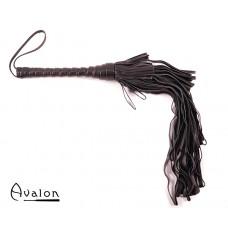 Avalon - CHIMERA - Sort Lærflogger med graderte Loopstrimler