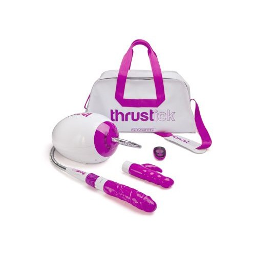 Thrustick - Sexmaskin med Fjernkontroll - Hvit/Rosa