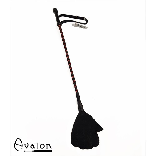 Avalon - LUCAN - Ridepisk med Håndflipp - Sort