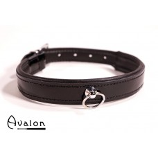 Avalon - SECRET - Collar med blank overflate og O-ring - Sort