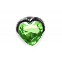 BQS - Buttplug med Hjertekrystall Grønn