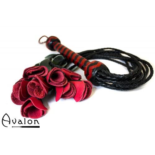 Avalon - THORN - Roseflogger med sort og rødt håndtak