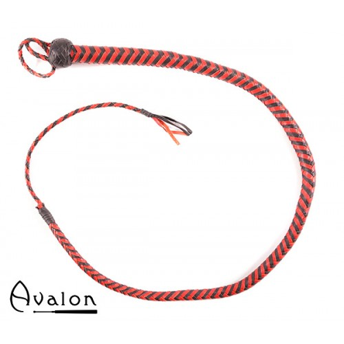 Avalon - SERPENT - Bullwhip heavy handle, Sort og rød 1,3 m