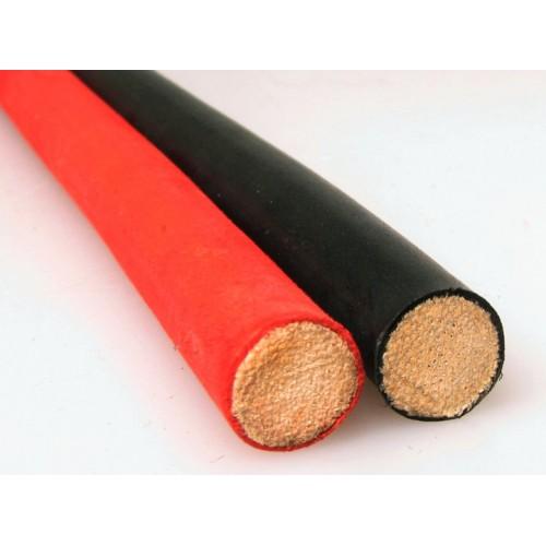 BQS - Cane - spanskrør med gummibelegg - Rødt 8 mm