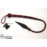 Avalon - Kort bullwhip, Sort og rød