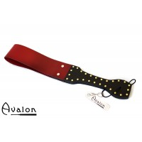 Avalon - Dobbel silikonpaddle - Sort og rød