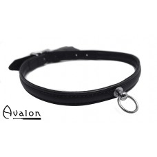 Avalon - HELEN - Enkelt Collar med O-ring Svart
