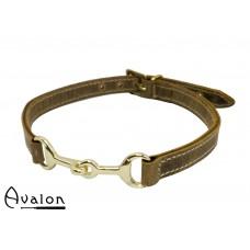 Avalon - Viking - Bit - Brunt Collar med gullfarget bitt